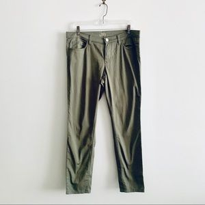 LOFT Army Green Modern Skinny Ankle Pants Sz 29/8